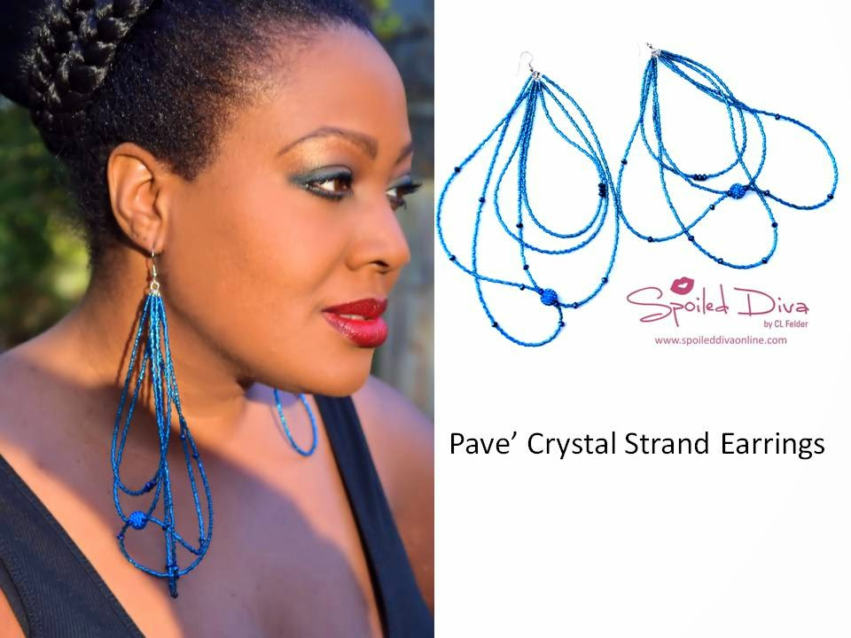 Spoiled Diva by CL Felder Pave' Crystal Earring Collection