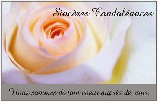 Texte de condol ances amicales message de condol ances sms de condol ances mots de - Mot de la meme famille que fleur ...