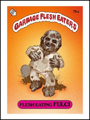 Zombies Meet Garbage Pail Kids (art by Omar Hauksson) - Fulci
