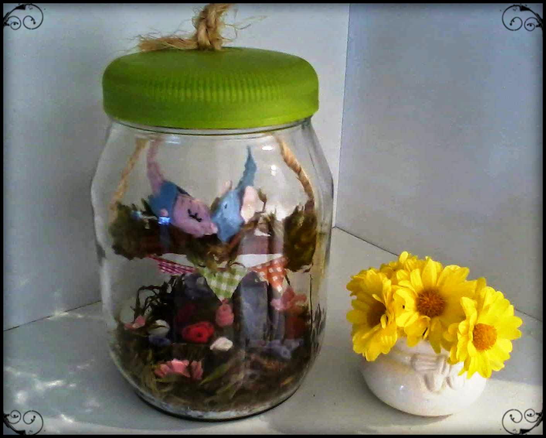 """mini jardim de vidro: de Pote de Vidro – Casal de Passarinhos """" Apaixonadim"""
