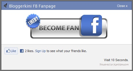 facebook like box on start page bloggerkini com