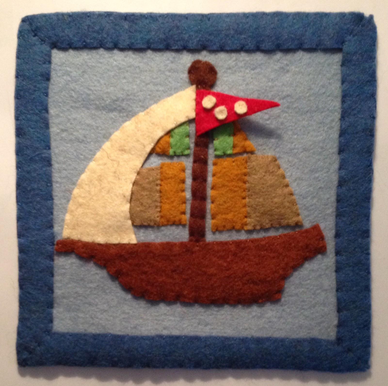 hajós kép filcből gyerekszobába
