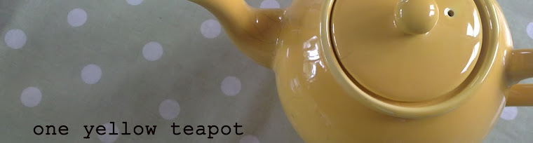 one yellow teapot