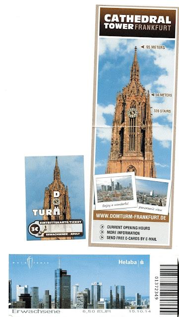 entradas para a Main Tower e Torre da Catedral em Frankfurt