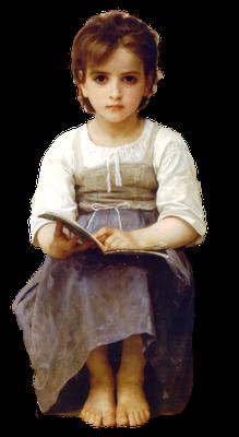 niña vintage de Bouguereau con alas