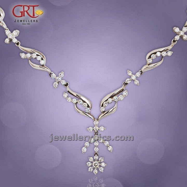 grt platinum necklace set