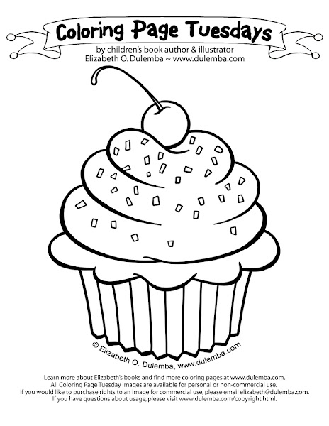 Cute Cupcakes And Muffins Coloring Pages