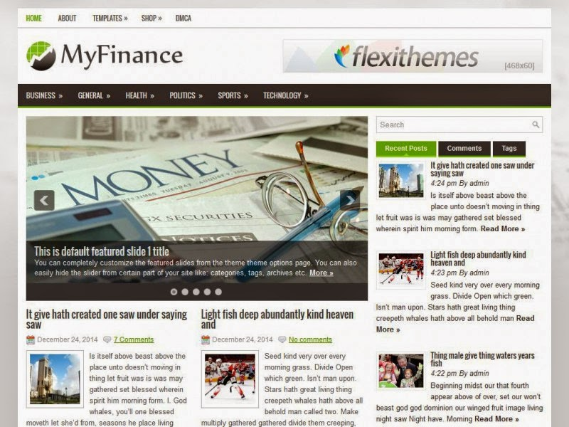 MyFinance - Free Wordpress Theme