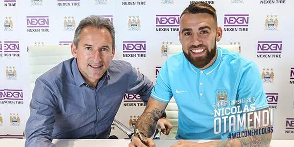 OFICIAL: Nicolás Otamendi é o novo reforço do Manchester City