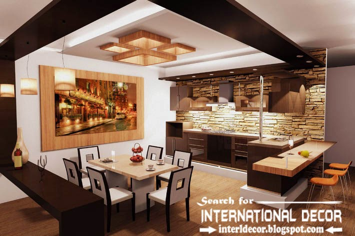 modern kitchen ceiling designs ideas lights, suspended ceiling for kitchen