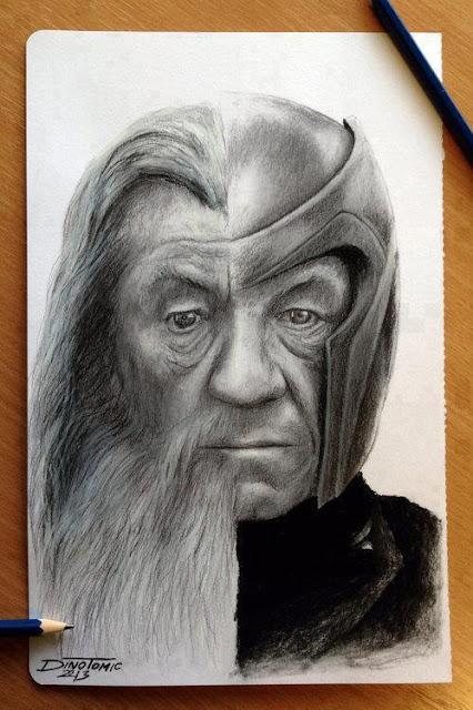 FanArt MashUp de Ian McKellen: Gandalf vs. Magneto