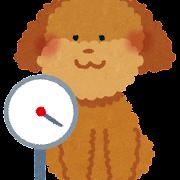 体重を測る犬のイラスト(ペット)