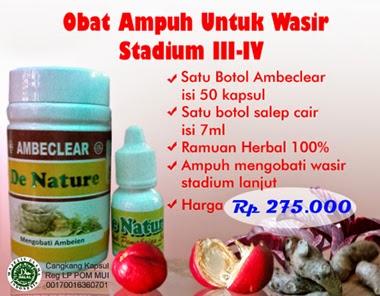 obat wasir atau ambeien stadium 3-4
