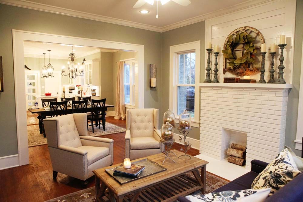Chip and joanna gaines favorite paint new living room for Living room ideas joanna gaines