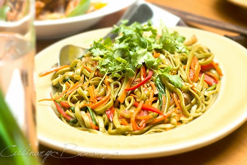 Organic Spinach Noodles, Mixed Vegetables