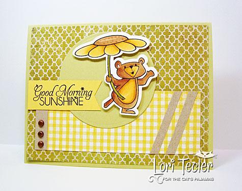 Good Morning Sunshine card-designed by Lori Tecler-Inking Aloud