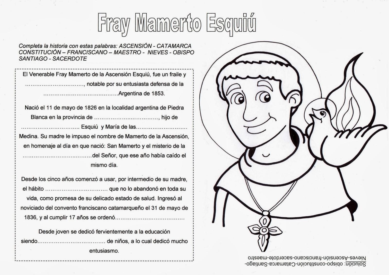 El Rincón de las Melli: Fray Mamerto Esquiú (reseña con juego)