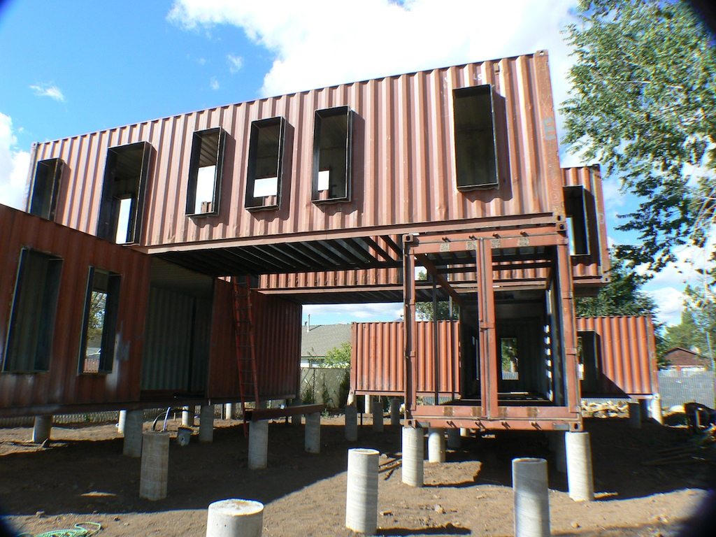 Shipping container homes ecosa design studio flagstaff arizona six shipping container home - Building shipping container homes ...