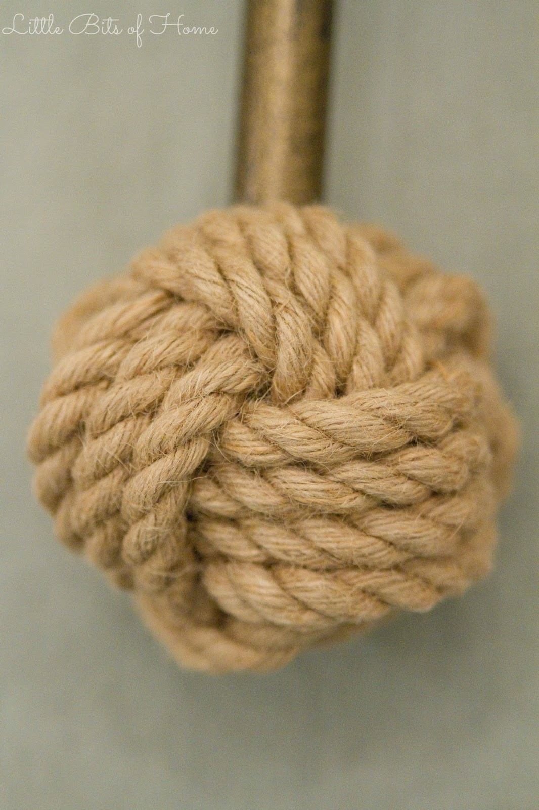 DIY Knotted Rope Finials