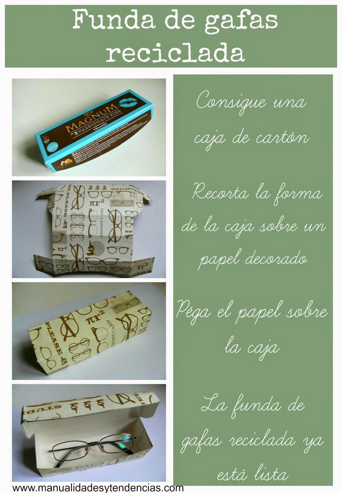 cómo hacer una funda de gafas reciclada