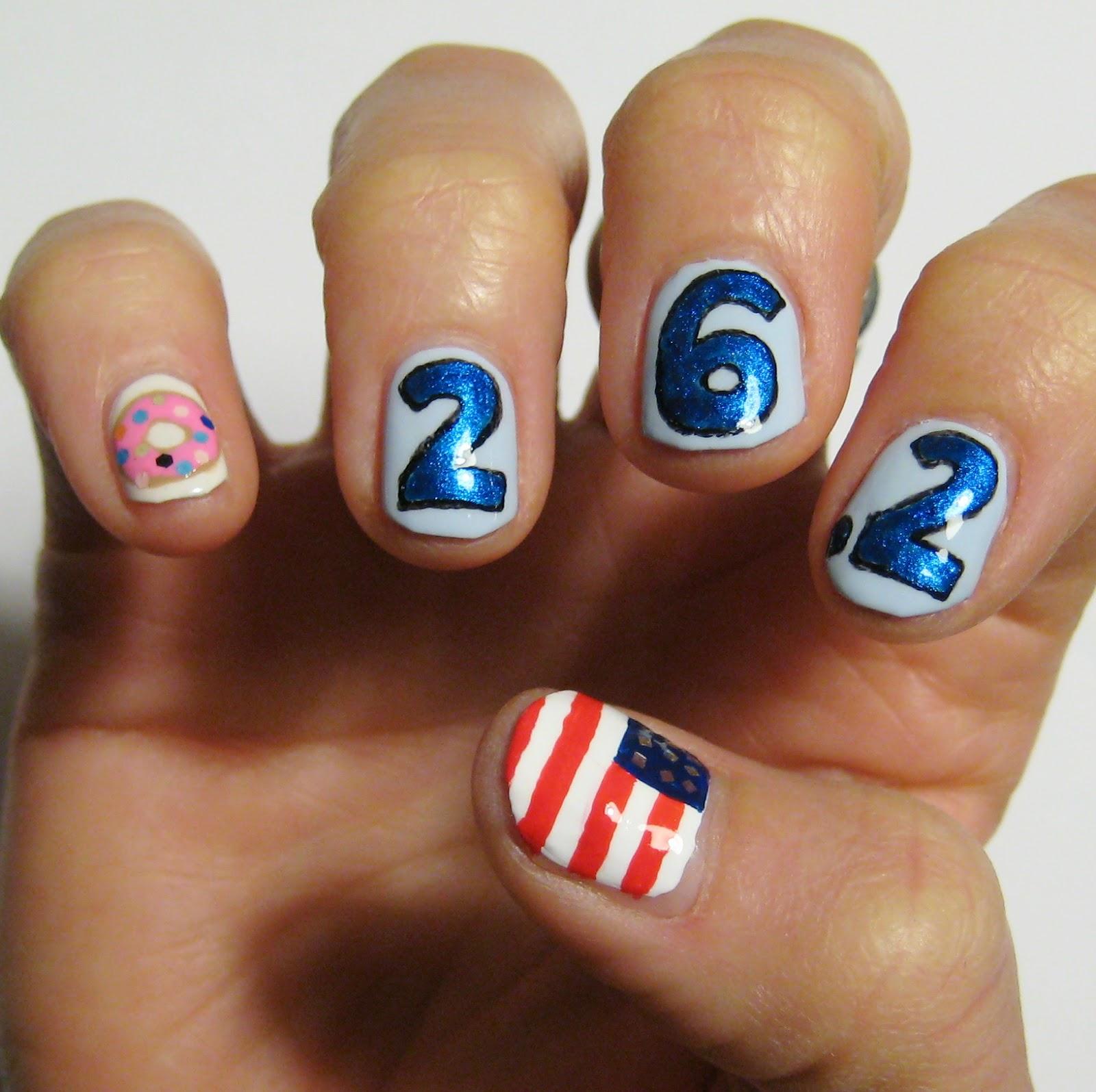Dahlia Nails: Chicago Marathon Nails!