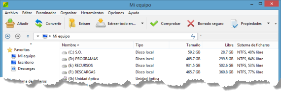 PeaZip, alternativa gratuita para comprimir archivos