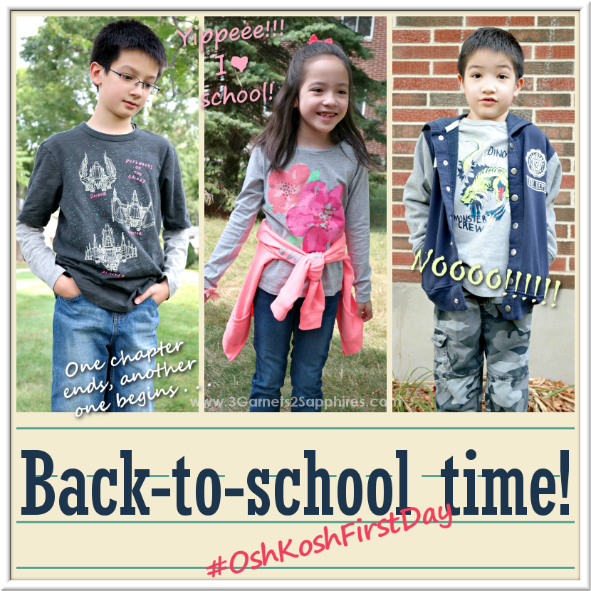 OshKosh back-to-school fashions for boys and girls #OshKoshFirstDay | www.3Garnets2Sapphires.com
