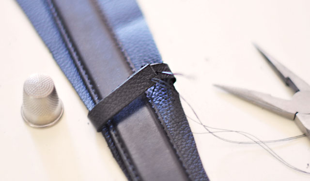 DIY Wide Leather Belt