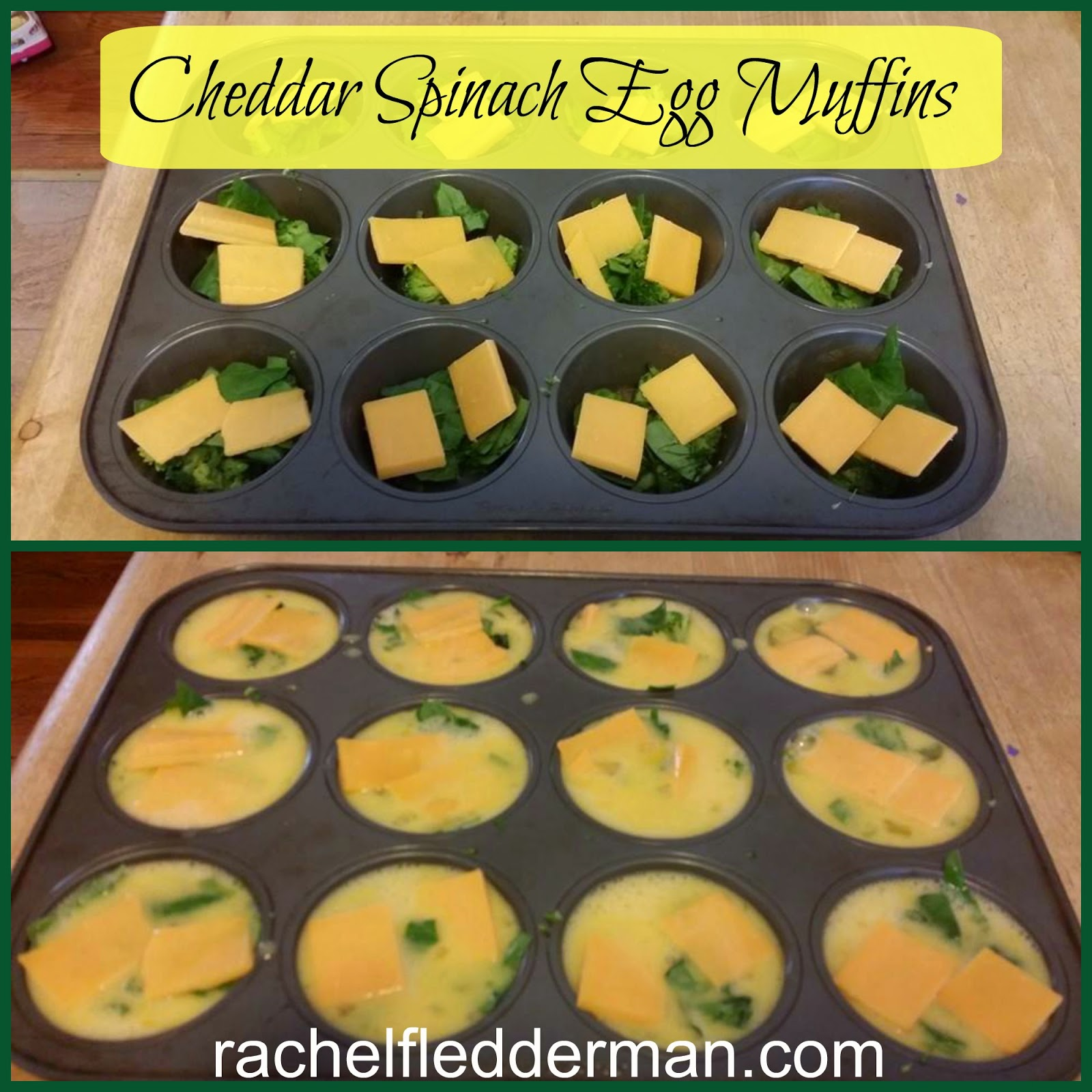 Cheddar Spinach Egg Muffin