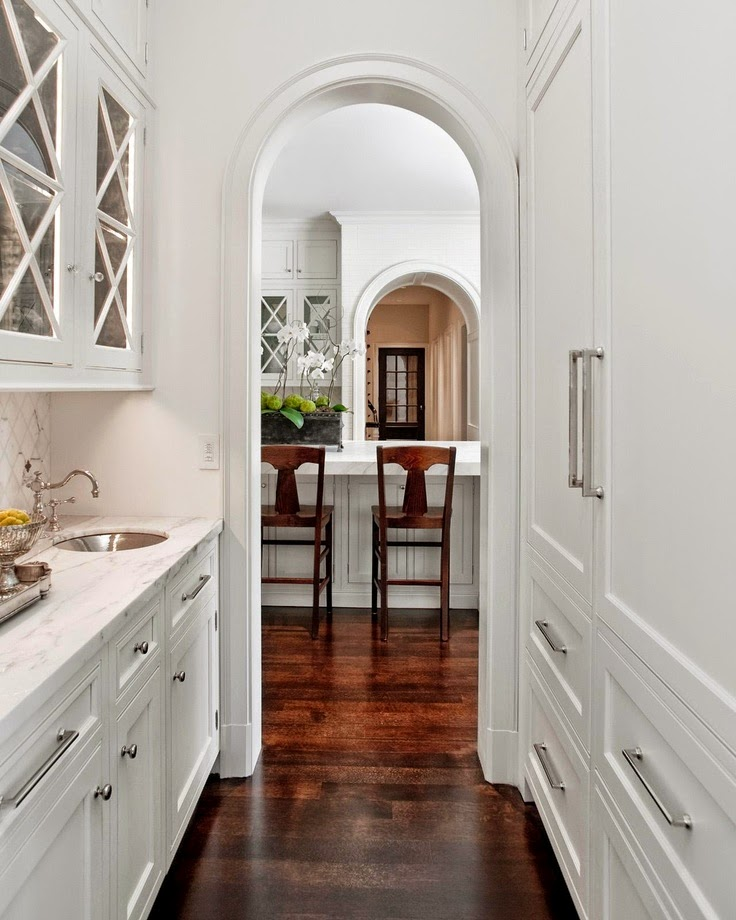 Pantries kitchen and butler 39 s on pinterest butler for Butler pantry pictures