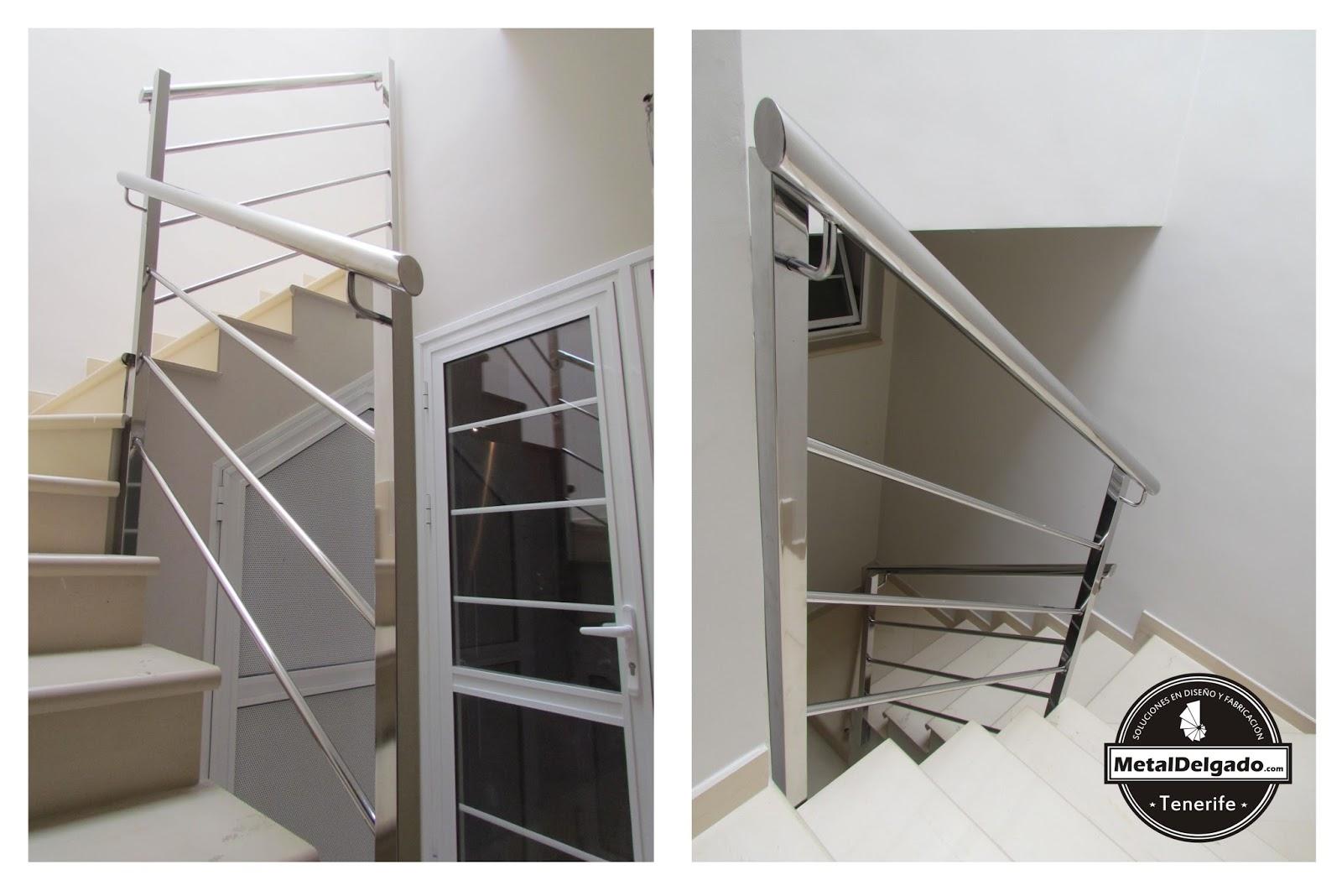 Acero inoxidable tenerife barandas acero inoxidable para escalera - Barandilla cristal escalera ...