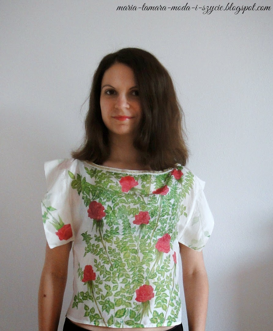 bluzka z jedwabiu w kwiaty