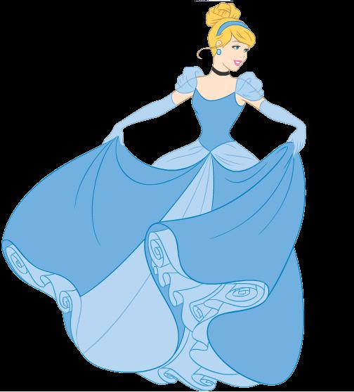 Princesa Cinderela desenho colorido com fundo transparente