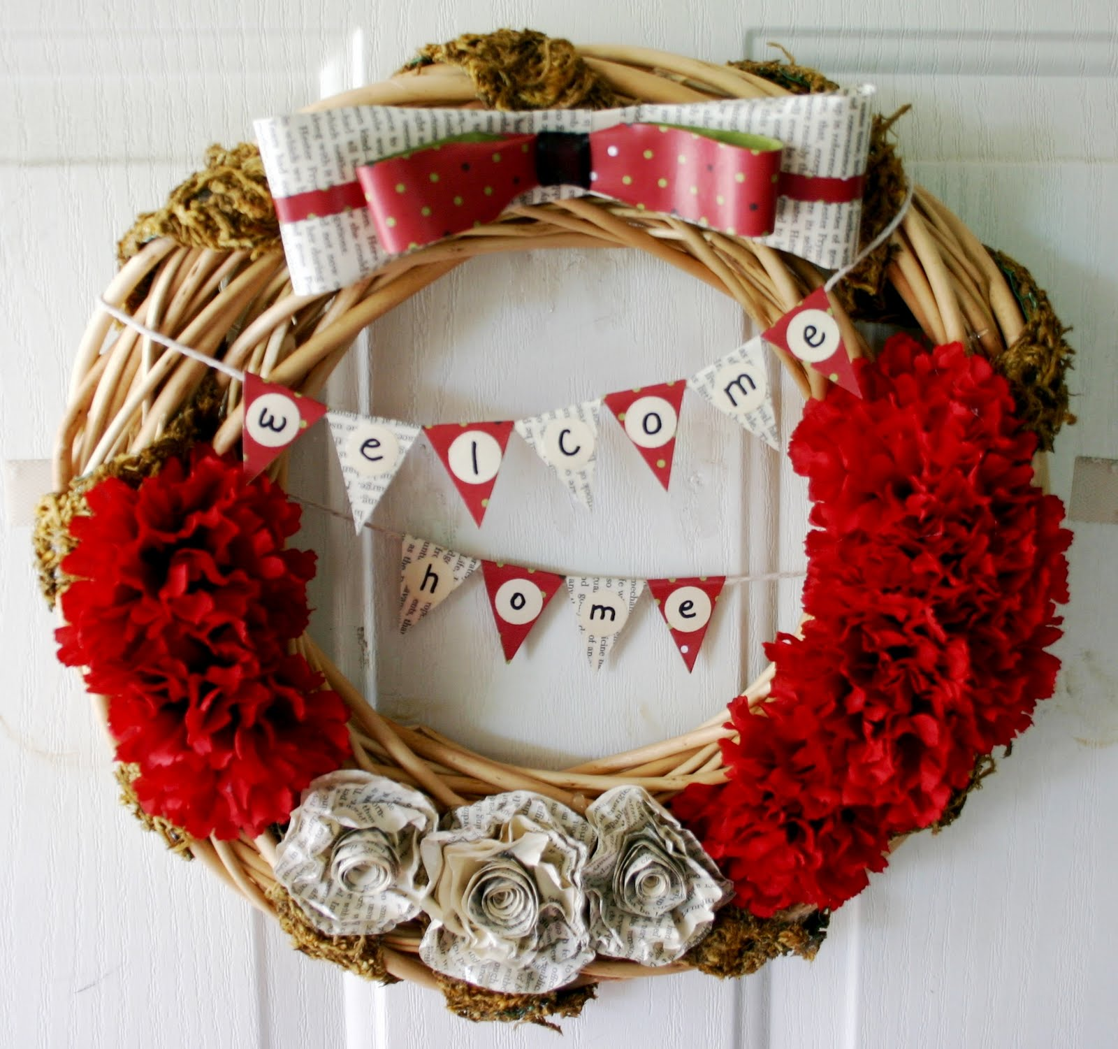 Skinner studio welcome home wreath welcome home wreath rubansaba