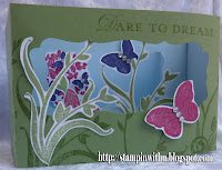 Butterfly and Flowers Diorama Card Side View