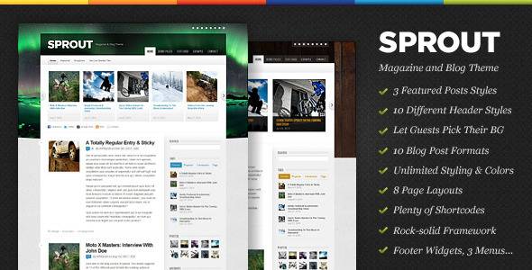 ThemeForest - Sprout - Magazine & Blog WordPress Theme