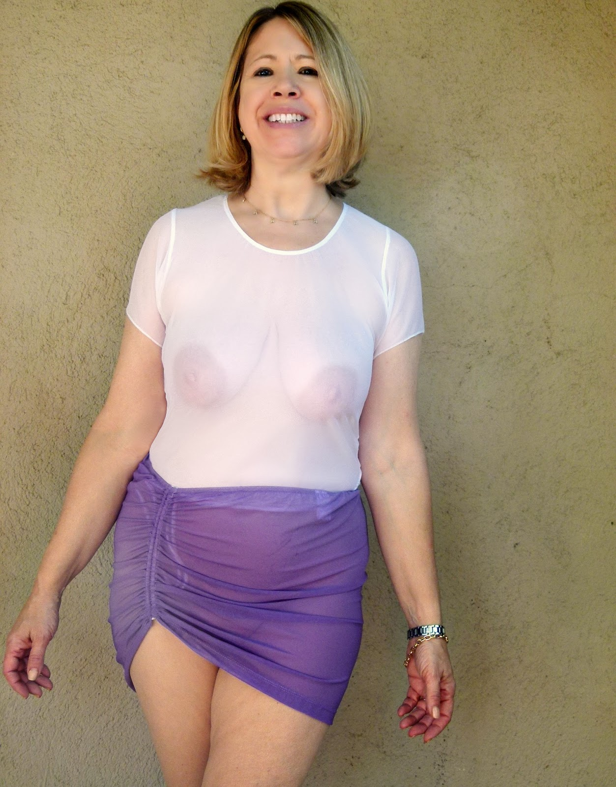 Women wearing see through clothes