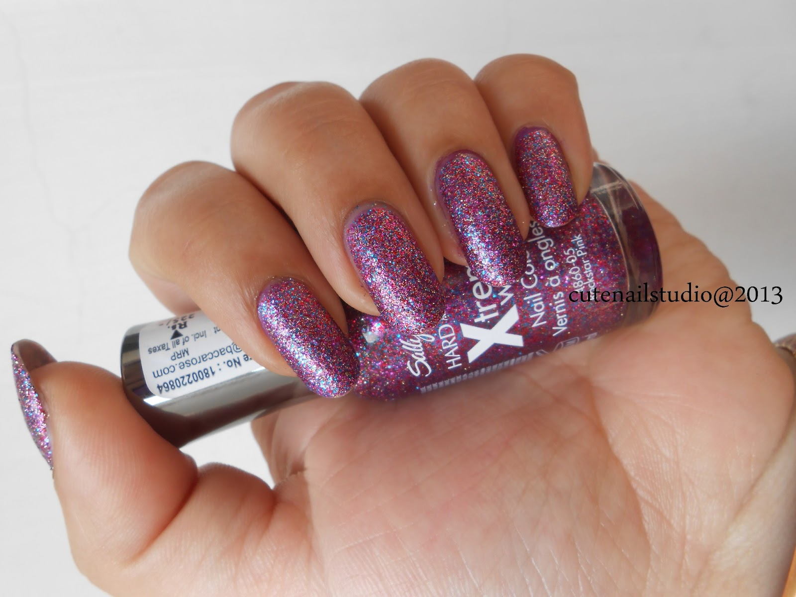 Cute nails: Sally Hansen xtreme wear nail color Rockstar Pink and In ...