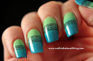 Born Pretty Store Lace Stripe Water Decals