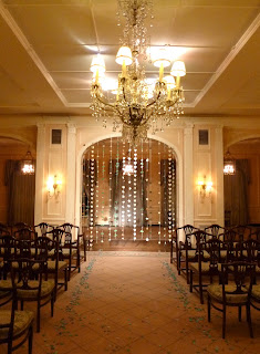 The Sunset Club Hall set for a wedding