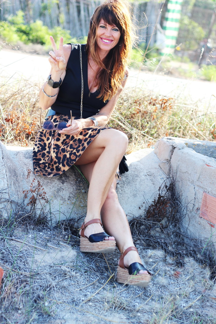 Otoño- Animal print - flatforms - Feler sunnies - Streetstyle - fashion blogger