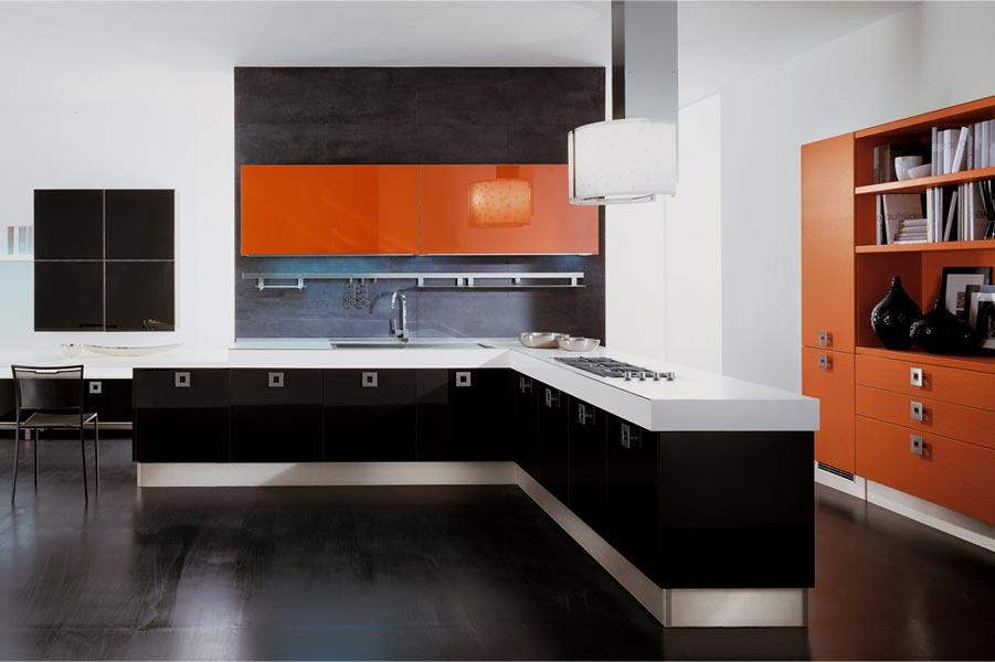 Los peque os detalles de la cocina asas y pomos cocinas - Cocinas naranjas y blancas ...