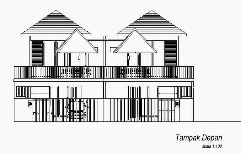 INTERIOR DESAIN: Gambar Kerja T&ak Depan Rumah Drawing Autocad 2D