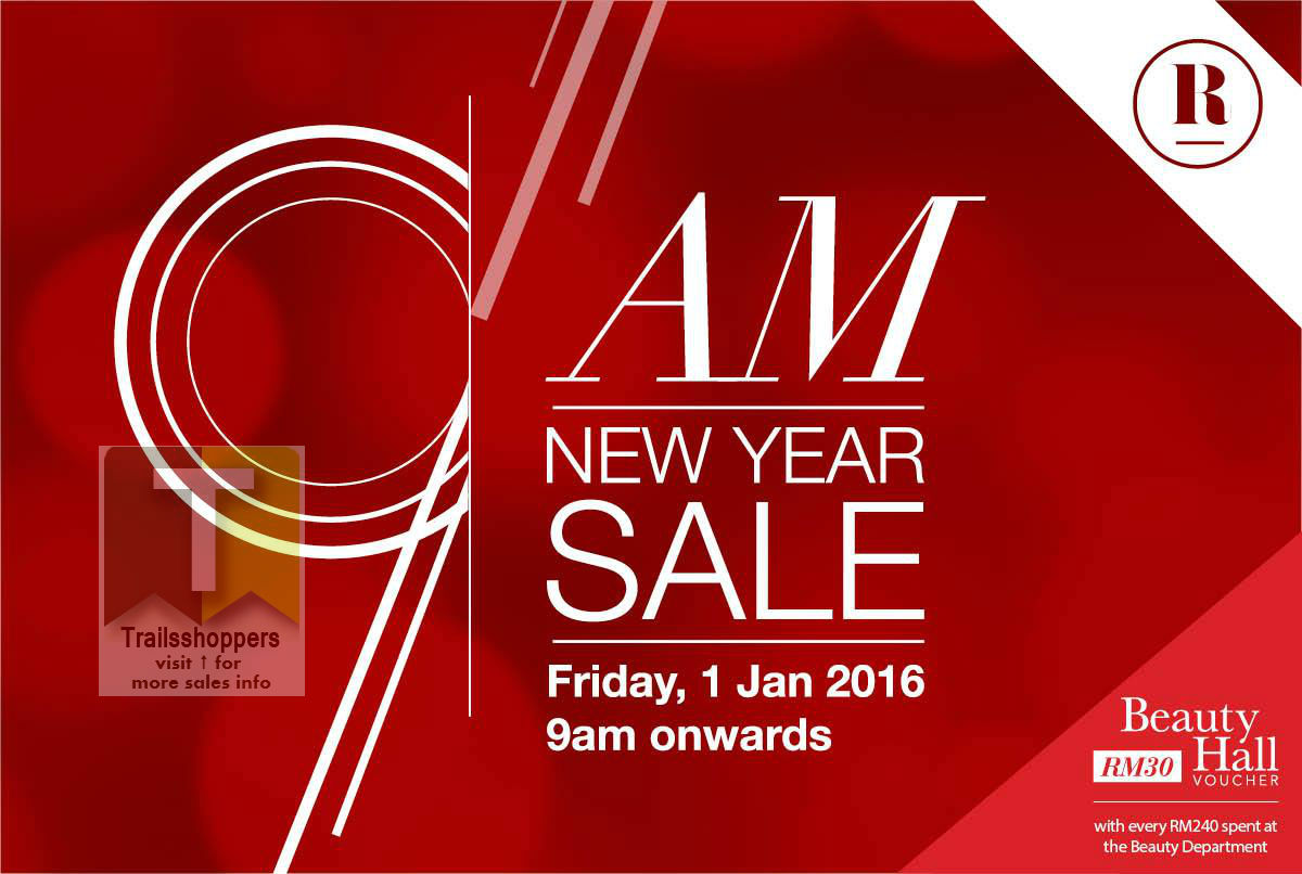 Robinsons 9AM New Year Sale