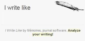 What Famous Author Do You Write Like?