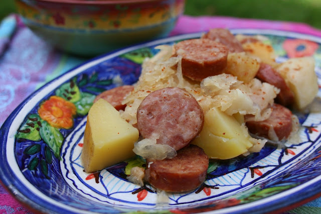 Slowcooker Kielbasa Sauerkraut & Apples: Simple Living and Eating