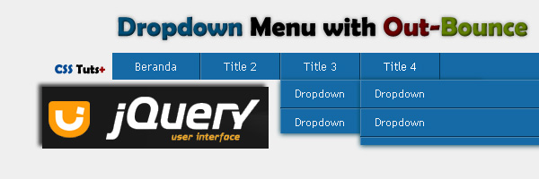Drop Down Menu With Effect Ease Bounce