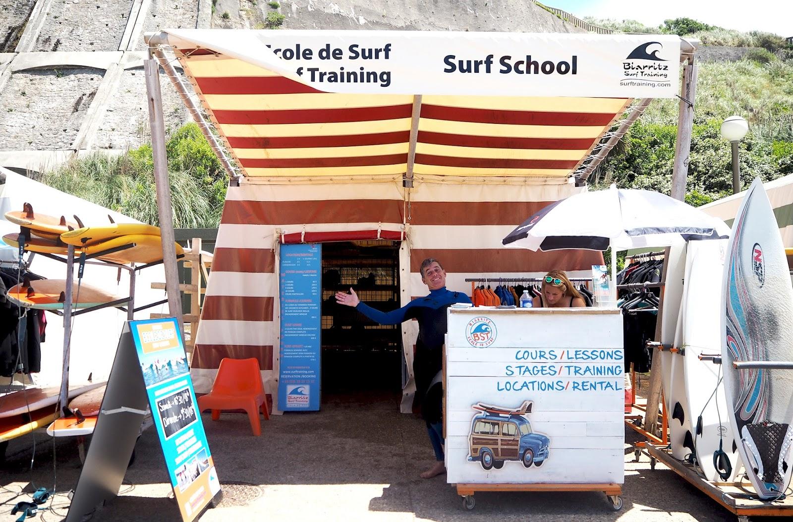 Biarritz école de surf pays basque