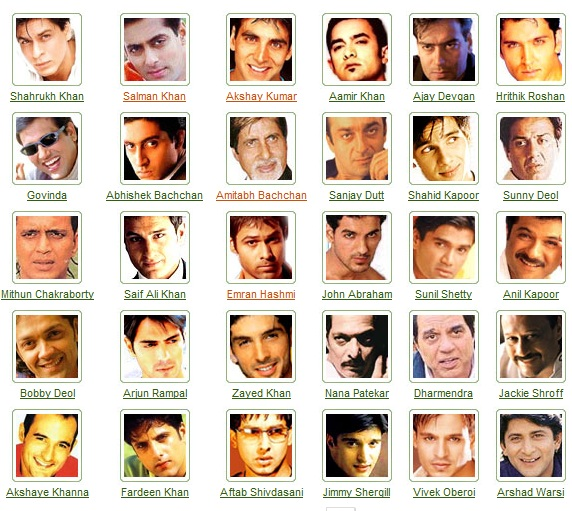 Indian Bollywood actors