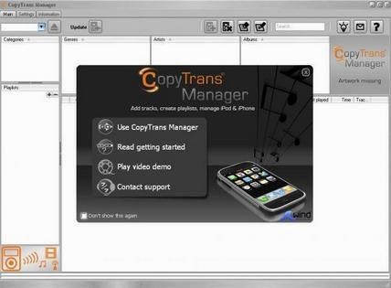 CopyTrans Manager: Alternatif Pengganti iTunes